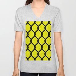 Chain-Link Fence (from Design Machine archives) Unisex V-Neck
