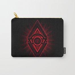 The Eye of Providence is watching you! (Diabolic red Freemason / Illuminati symbolic) Carry-All Pouch
