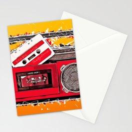 Music tape retro #tape Stationery Cards