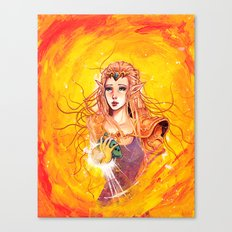 Princess Zelda - Copic Marker and Acrylic Canvas Print