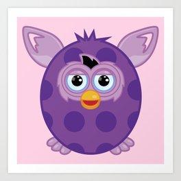 Purple Furby Art Print