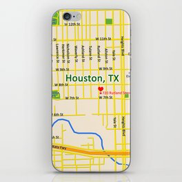 Map of Houston TX #1 iPhone Skin