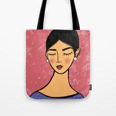 Pearl earrings in Pink Tote Bag