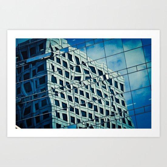 Building Reflections Art Print