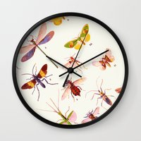 alisa burke Wall Clocks featuring Beautiful Creatures by 83 Oranges™