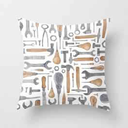 Hand Tools Throw Pillow