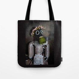 Household robot with gasmask Tote Bag