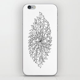 cocoon line art - white iPhone Skin