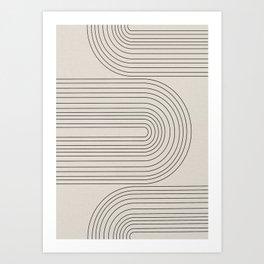 Arch Art, Modern Pattern, Mid Century  Art Print