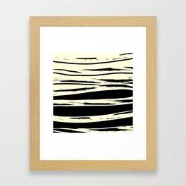 black + vanilla Framed Art Print