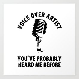 Voice Over Artist Shirt Vintage Microphone Voice Actor Gift Art Print