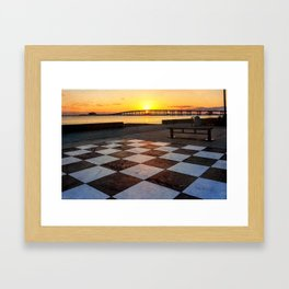Checkerboard Sunset Framed Art Print