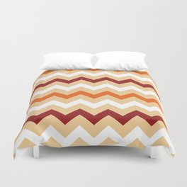Colorful Chevron pattern in Boho Style / Old Fashion. Duvet Cover