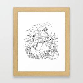 Taurus Girl Sketch Framed Art Print