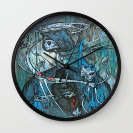 exiled archangels Wall Clock