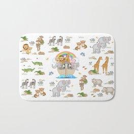Noahs Ark Animals Bath Mat