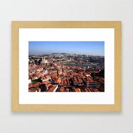 Riverbanks, Portugal Framed Art Print