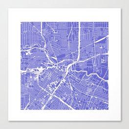 Houston City Map Art Canvas Print