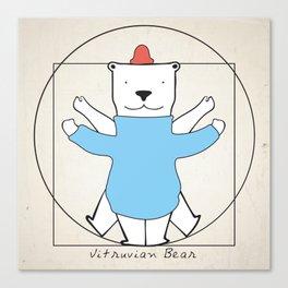Vitruvian Bear Canvas Print