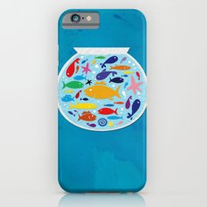 Big fish, little bowl.  iPhone 6s Slim Case