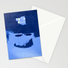 Street Art: Post No Bills, but smile while doing it Stationery Cards
