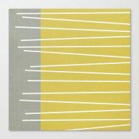 mid century modern Canvas Prints featuring MId century modern textured stripes by Michelle Drew