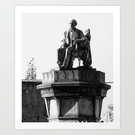 old man statue Art Print