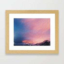 Christmas Eve Sunset Framed Art Print