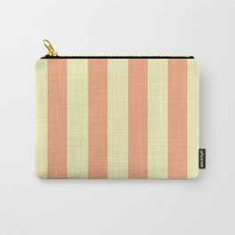 Vintage Cream and Salmon Carry-All Pouch
