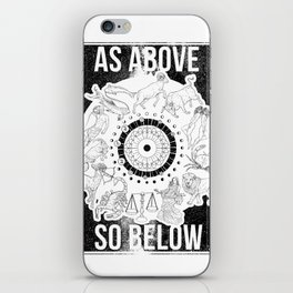 As Above, So Below - Zodiac Illustration iPhone Skin