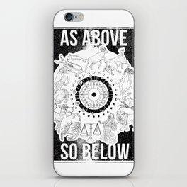 As Above, So Below - Zodiac Illustration iPhone Skin