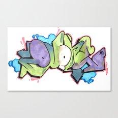 QUONE Green Bubble Piece Canvas Print