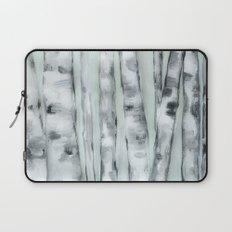 Birch trees in winter Laptop Sleeve