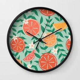 Citrus on Mint Wall Clock