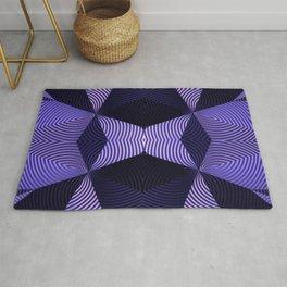 Origami in purple Rug
