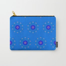 Blue Flower Wisps Carry-All Pouch