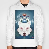 princess mononoke Hoodies featuring Princess Mononoke by Roberta Oriano
