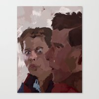 marty mcfly Canvas Prints featuring Marty & George McFly by Lee_B