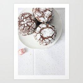 Chocolate candy cake cookies Art Print