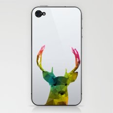 Glass Animal - Deer head iPhone & iPod Skin