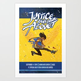 justice rains from above! Art Print