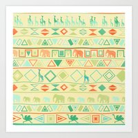 tribal Art Prints featuring Tribal by Sunshine Inspired Designs