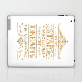 To the Stars - White Laptop & iPad Skin