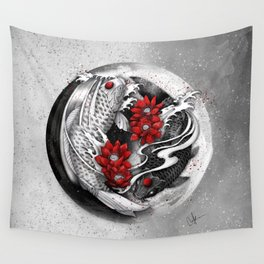 Balance [Yin-yang koi] Wall Tapestry