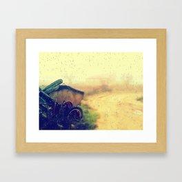 tras la lluvia Framed Art Print