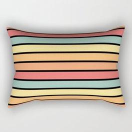 Multicolored Stripes: Sunset Colors Rectangular Pillow