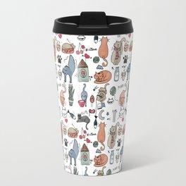 Black and white cats Travel Mug