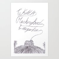 to kill a mockingbird Art Prints featuring To Kill A Mockingbird by Andrew Henderson