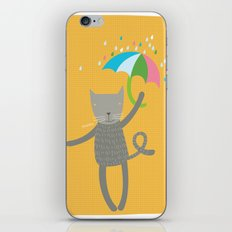 a cat is always prepared for the rain iPhone & iPod Skin