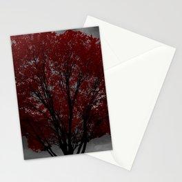Red Tree, Grey Sky Stationery Cards